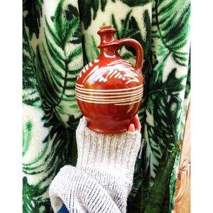 Vintage handmade rustic ceramic pottery jug 🌜